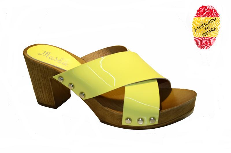 501n amarillo cruzado charol